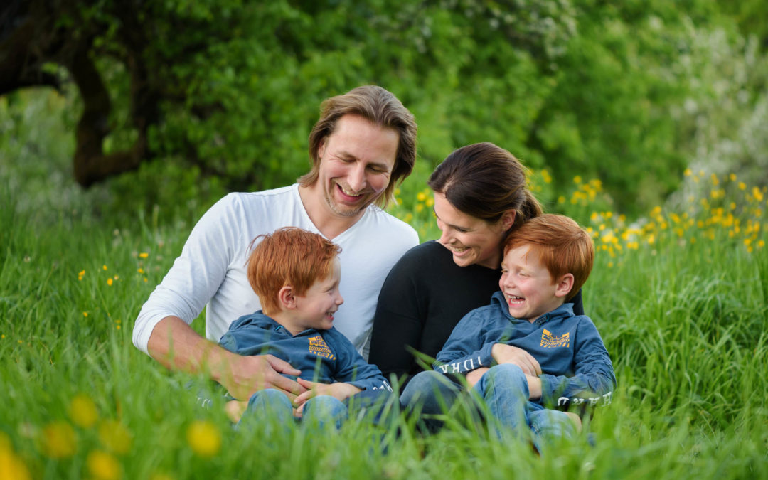 Familienbilder im Grünen