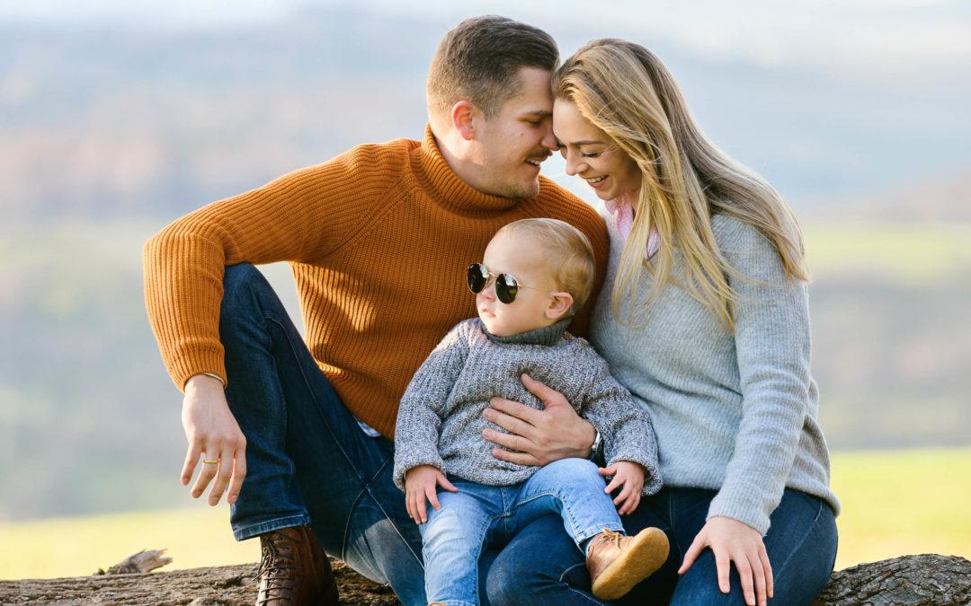 Familienbilder im Freien